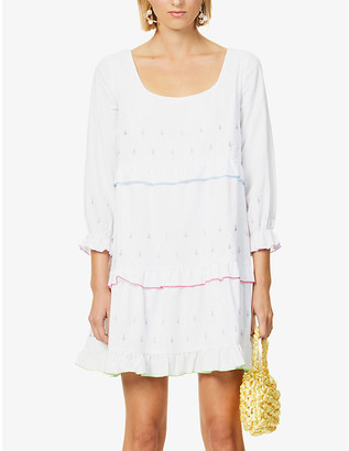Olivia Rubin Odelia embroidered cotton mini dress