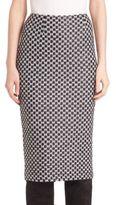 St. John Chain Knit Pencil Skirt