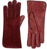 Barneys New York Women's Suede Gloves-Burgundy