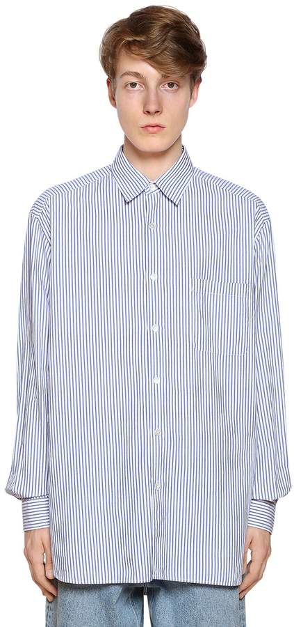 Our Legacy Oversize Striped Cotton Poplin Shirt