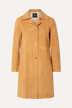 Theory Suede Coat - Marigold