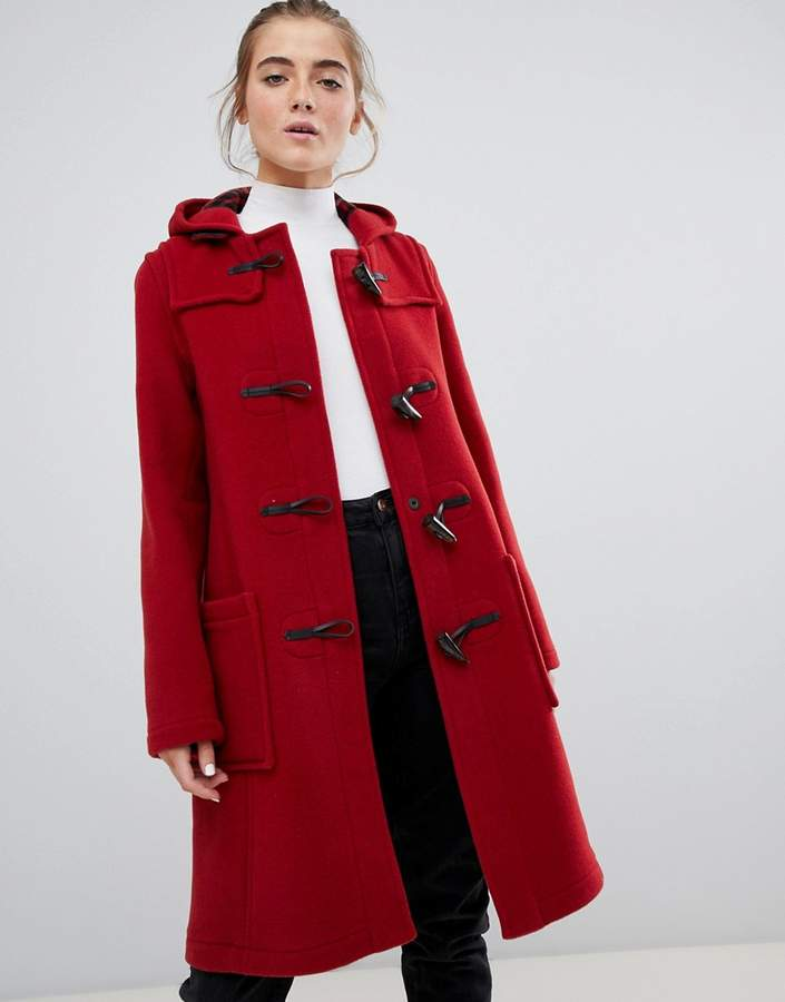 Gloverall mid panelled duffle coat with hood