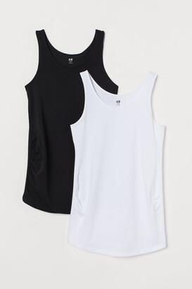 H&M MAMA 2-pack Cotton Tank Tops