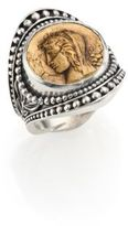 Konstantino Kerma Bronze & Sterling Silver Coin Ring
