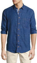 Lenor Romano Broken Plaid Cotton Sport Shirt