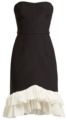 Emilio De La Morena Coretta Ruffled Cocktail Dress - Black