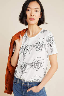 White + Warren Sabine Embroidered Tee