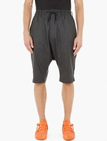 Y-3 Dropped-crotch Wool Shorts