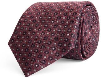 Canali Silk Geometric Print Tie