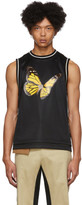 Palm Angels Black Butterfly Tank Top