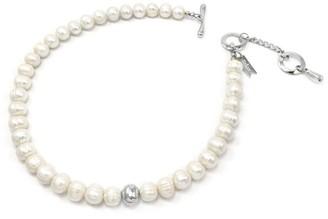 Biko Paloma Pearl Collar Silver