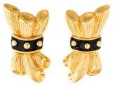 Fendi Vintage Enamel Clip-On Earrings