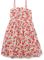 Ralph Lauren Sleeveless Floral Button-Back Sundress, Pink, Size 5-6X