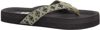 Muk Luks Women's Geometric Cutout Thong Flip-Flops - Brielle