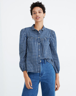 Madewell Plaid Peter Pan Collar Shirt