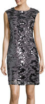 Studio 1 Sleeveless Sequin Sheath Dress