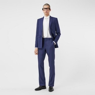 Burberry Classic Fit Birdseye Wool Tailored Trousers