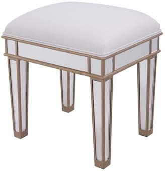 """Decor Central Dressing Stool 18"""" Hand Rubbed Antique Gold Finish"""
