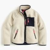 J.Crew Girls' sherpa jacket