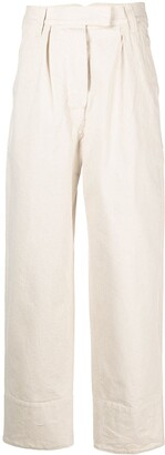 Margaret Howell Wide-Leg Cotton Trousers