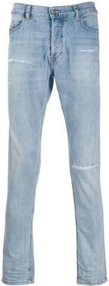 Diesel Distressed Slim-Fit Denim Jeans
