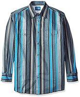 Wrangler Men's Big and Tall Brushpopper Long Sleeve Western Shirt