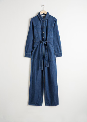 And other stories Denim Overall Jumpsuit
