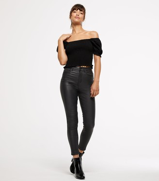 New Look Leather-Look 'Lift & Shape' Skinny Jeans