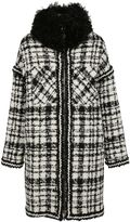 Moncler Gamme Rouge Trim Checkered Coat