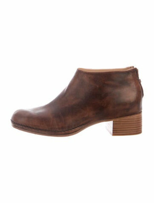 Feit Leather Distressed Accents Boots Brown