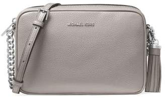 Michael Kors Ginny Pearl Grey Medium Crossbody Bag