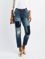 Charlotte Russe Refuge Destroyed Patchwork Jeans