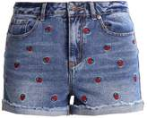New Look STRAWBERRY Denim shorts mid blue