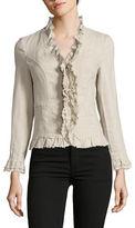I.N.C International Concepts Petite Ruffle Linen Jacket