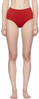 Her Line Red Classic High-Waist Bikini Briefs