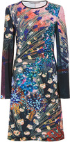 Clover Canyon Etched Blooms Long Sleeved Jersey Dress