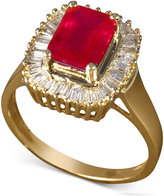 Effy Gemma by Ruby (2-1/4 ct. t.w.) and Diamond (1/2 ct. t.w.) Baguette Ring in 14k Gold