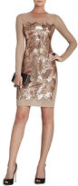 BCBGMAXAZRIA Anaya Long-Sleeve Braided Sequined Dress