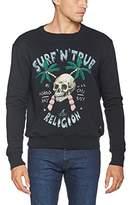 True Religion Men's Surf Skull Sweatshirt,L