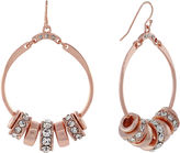 Nicole Miller Nicole By nicole by Rose Gold-Tone Circle Earrings w/ Crystal Accents