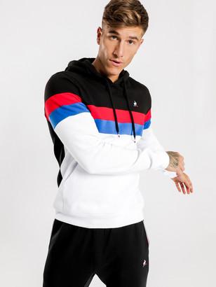 Le Coq Sportif Chapin Hooded Sweater in Black