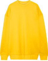 Marques Almeida Marques' Almeida - Oversized Cotton-blend Jersey Sweatshirt - Yellow