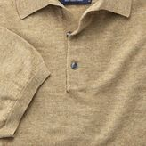 Charles Tyrwhitt Fawn heather short sleeve polo collar jumper