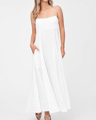 Express En Saison Square Neck Poplin Maxi Dress