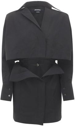 Jacquemus La Robe Terraio Poplin Dress W/Cutout