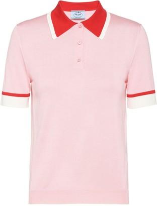 Prada Pointed Collar Polo Shirt