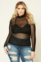 Forever 21 Plus Size Sheer Mesh Top