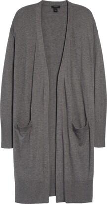 Halogen Open Front Pocket Cardigan