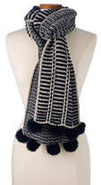 Lands' End Women's Nautical Stripe Scarf-Garnet
