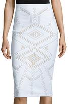 Bisou Bisou Slim-Fit Pencil Skirt